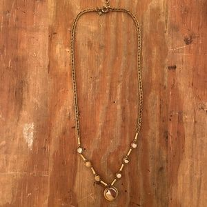 J Crew Gold Mirror Necklace